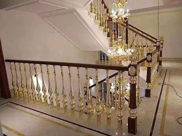 别墅铜楼梯护栏