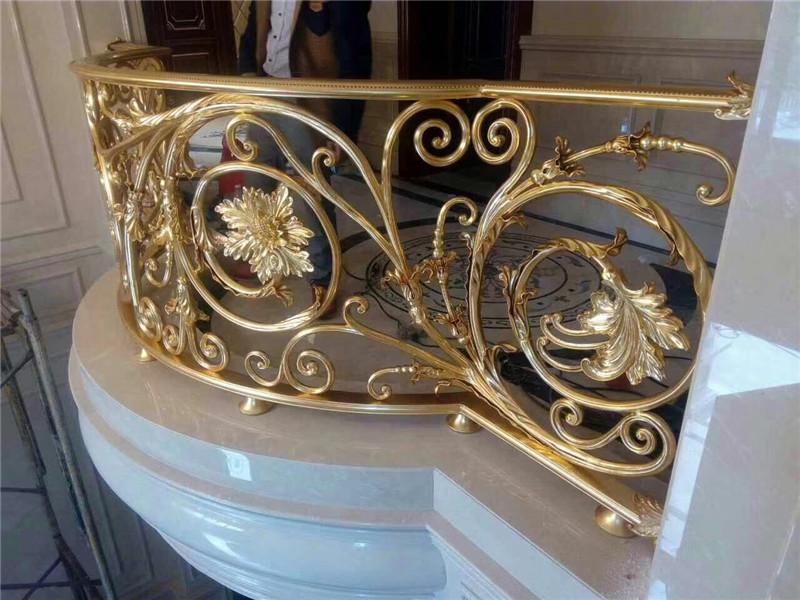 纯铜屏风花格-铜艺楼梯扶手栏杆