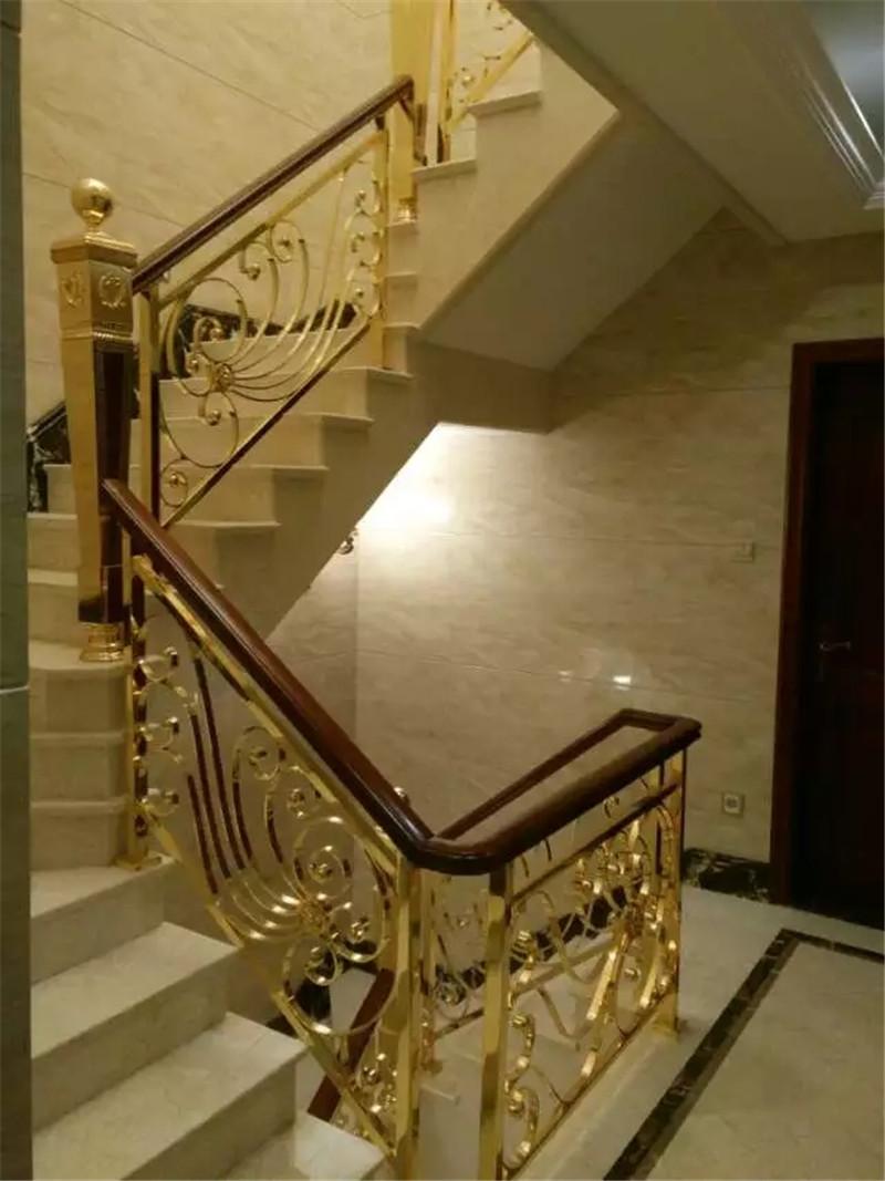 铜楼梯铜栏杆厂家