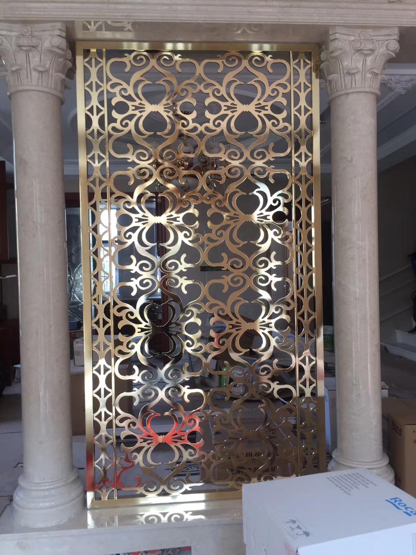 杭州铜花格屏风设计